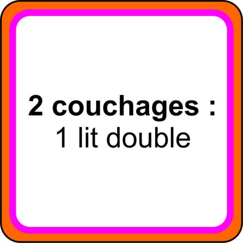 1 icone - 2 couchages